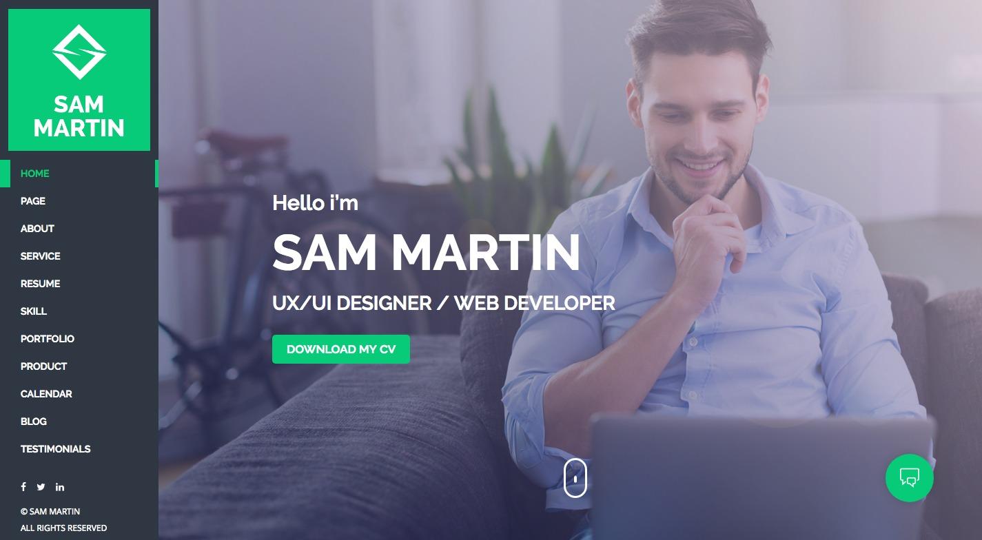 Sam Martin WordPress Theme
