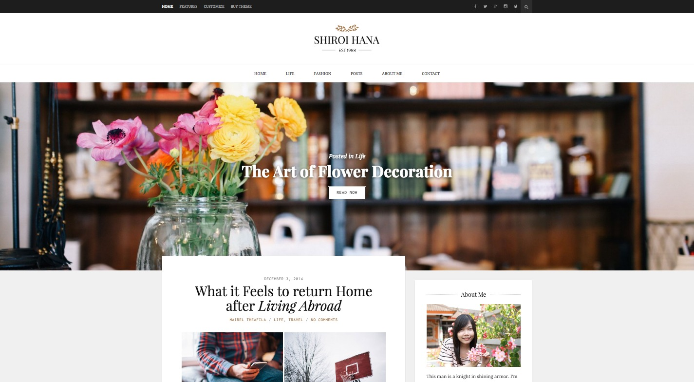 Shiroi Hana WordPress Theme