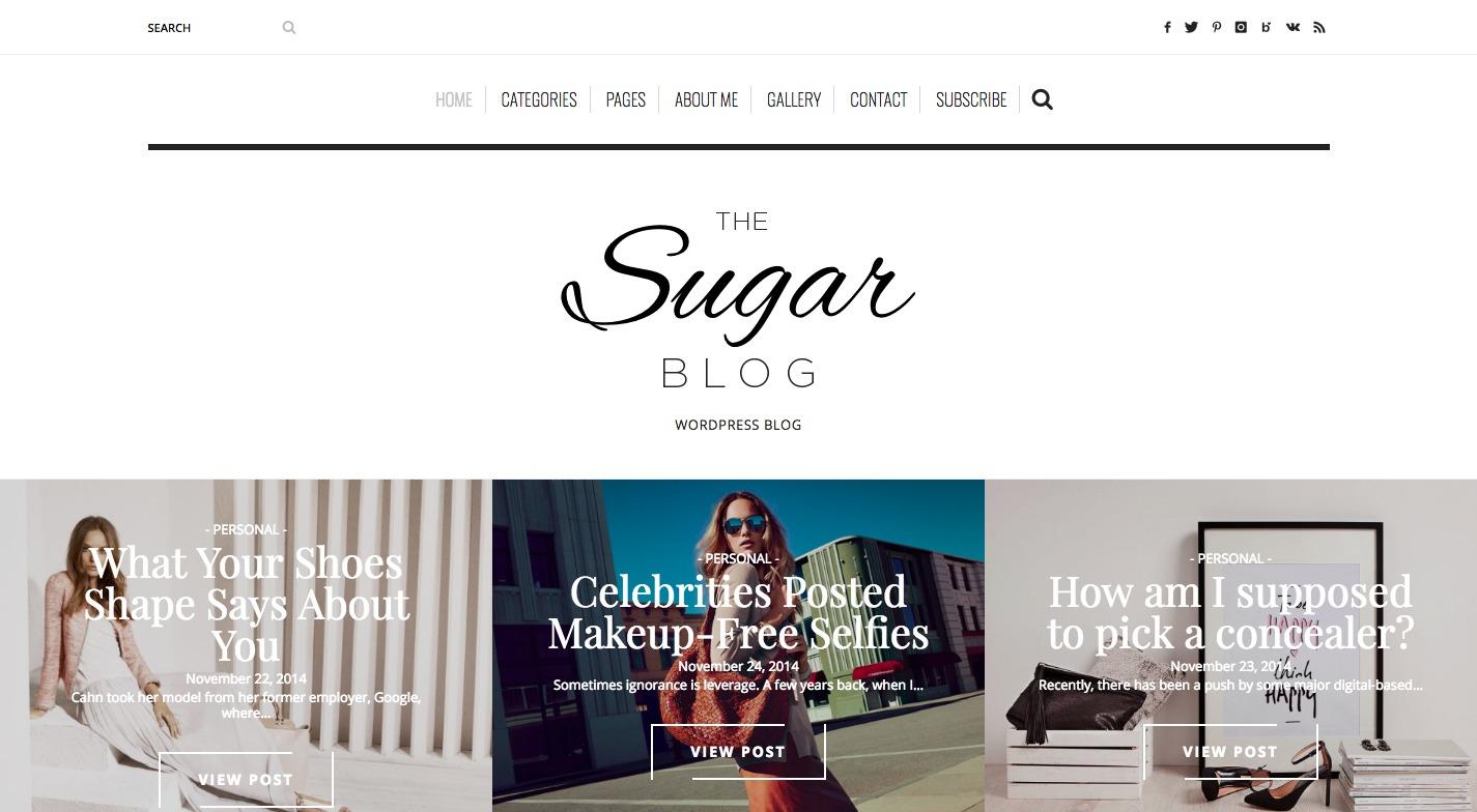 SugarBlog WordPress Theme