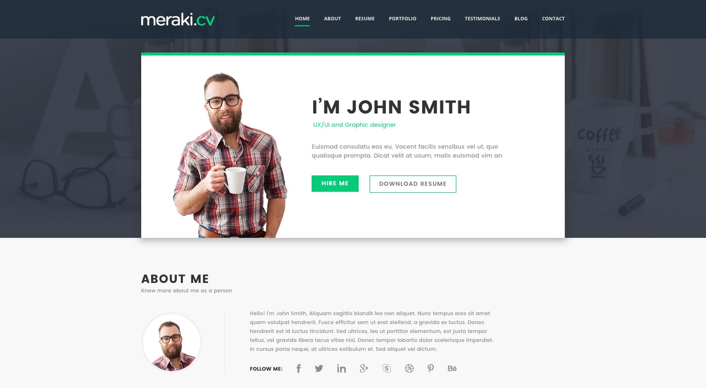 10+ Outstanding vCard & Resume WordPress Themes of 2019 – wpmagg