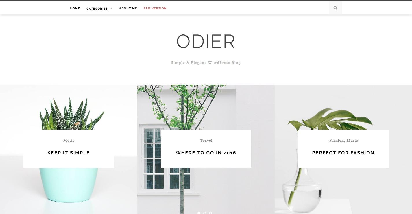 Odier Lite WordPress Theme