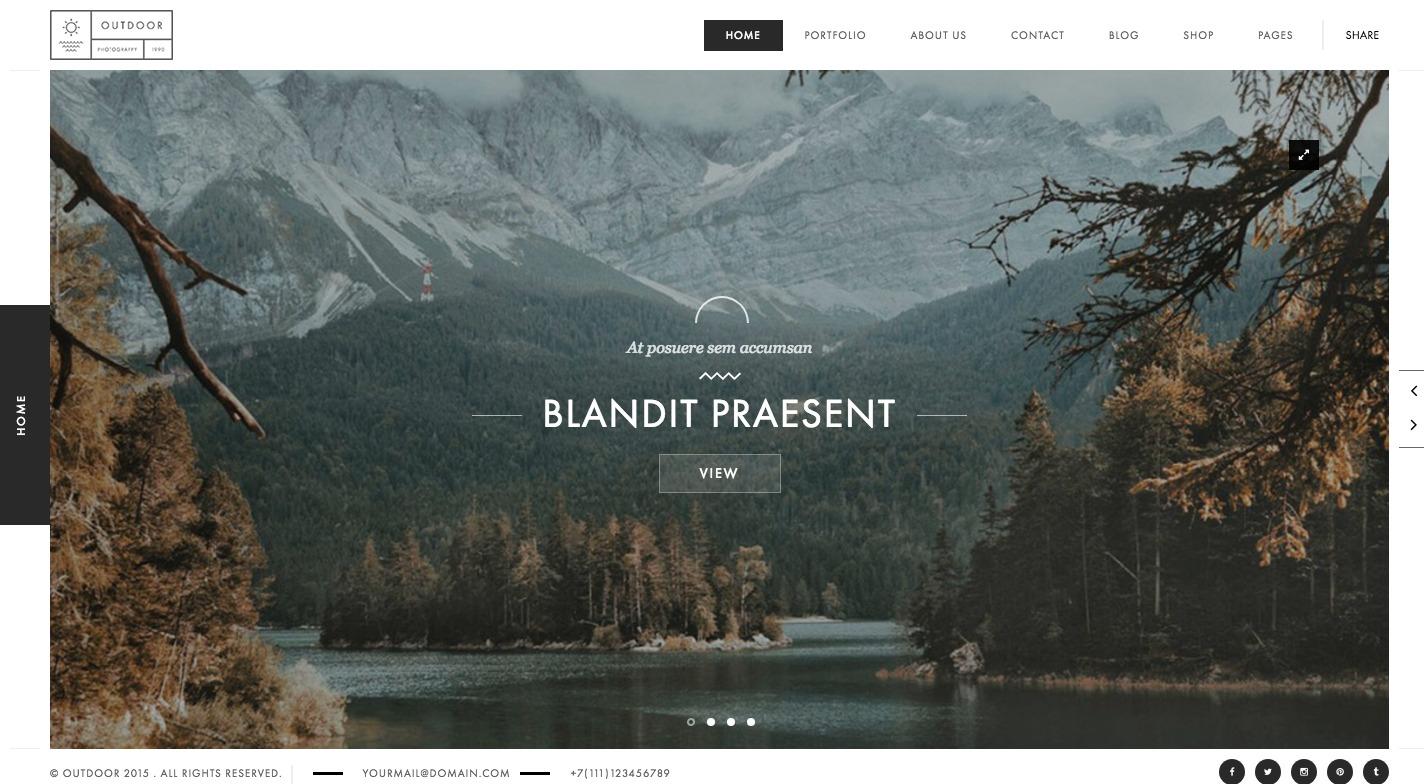 Outdoor WordPress Theme