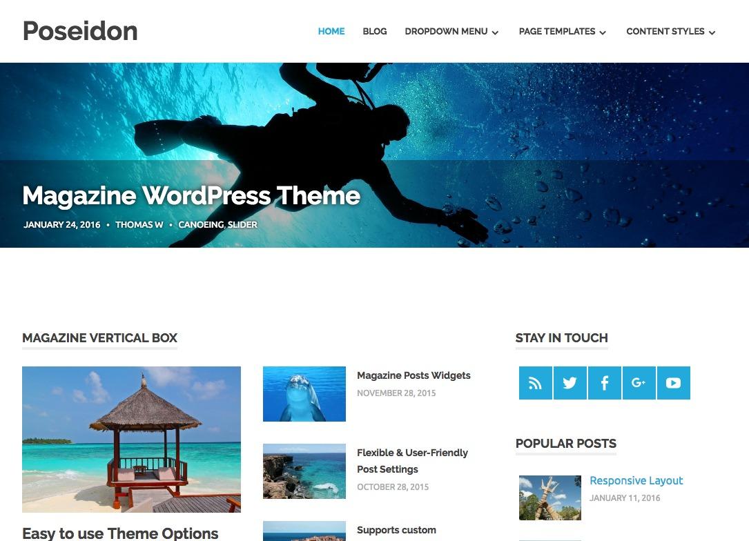 Poseidon WordPress Theme