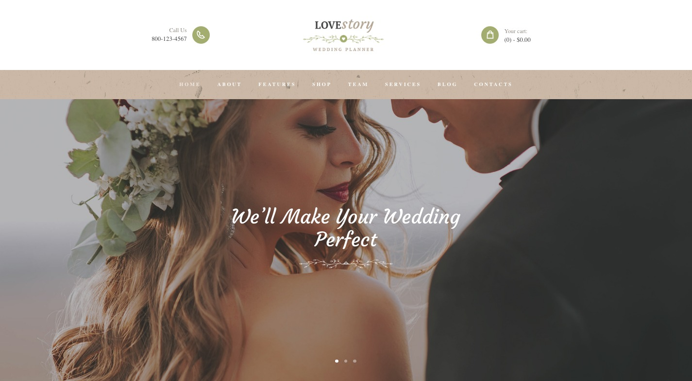 Love Story WordPress Theme