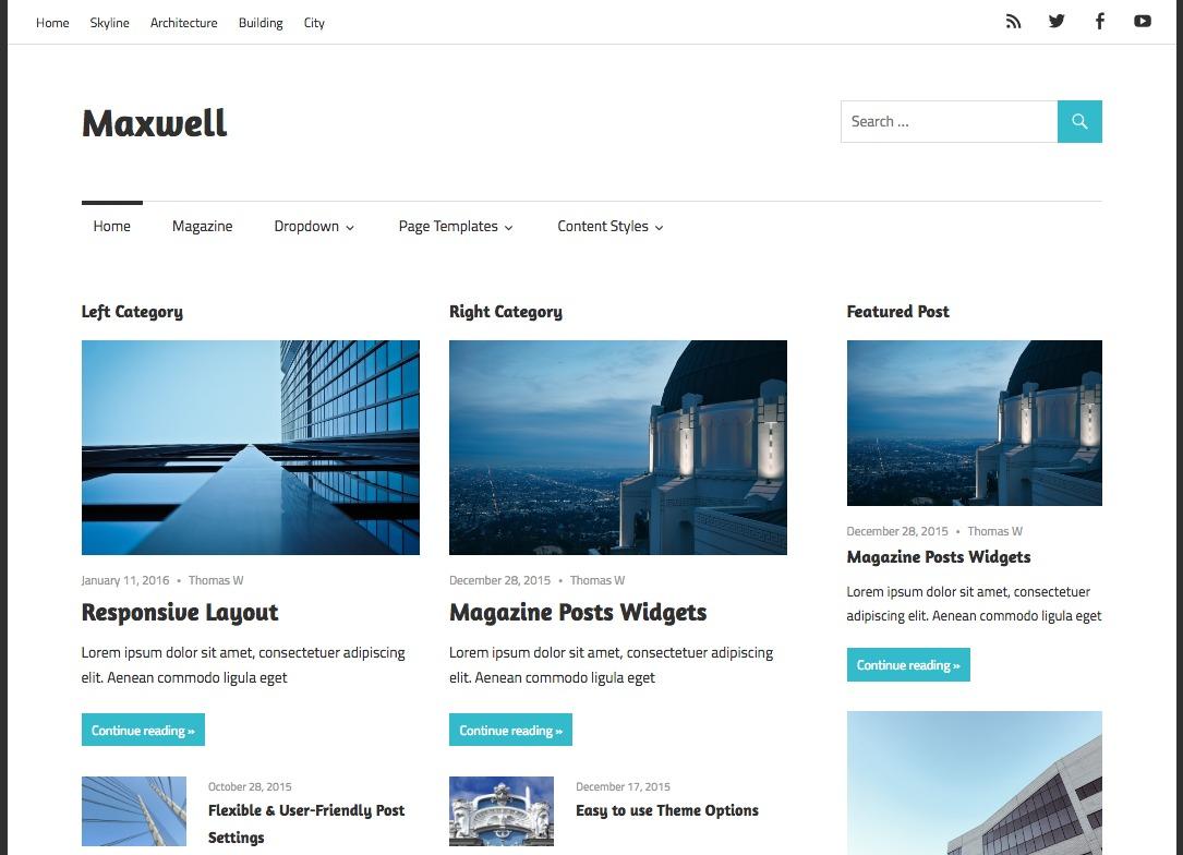 Maxwell WordPress Theme