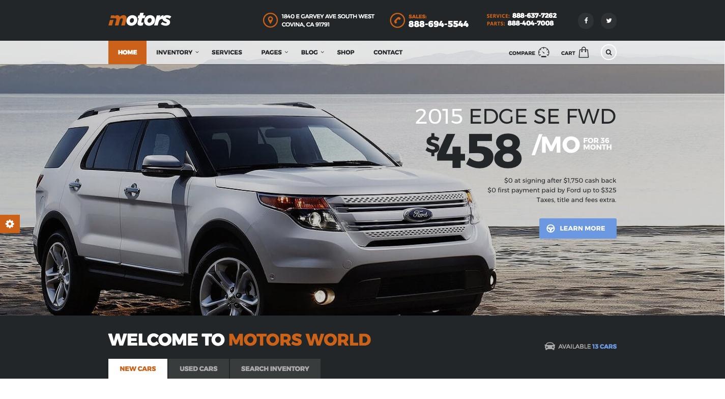 Motors WordPress Theme