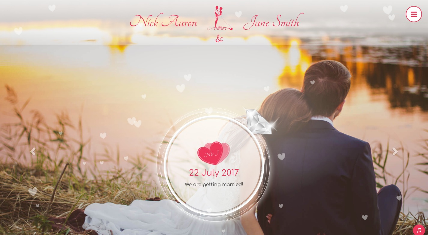 Wedding Paradise WordPress Theme