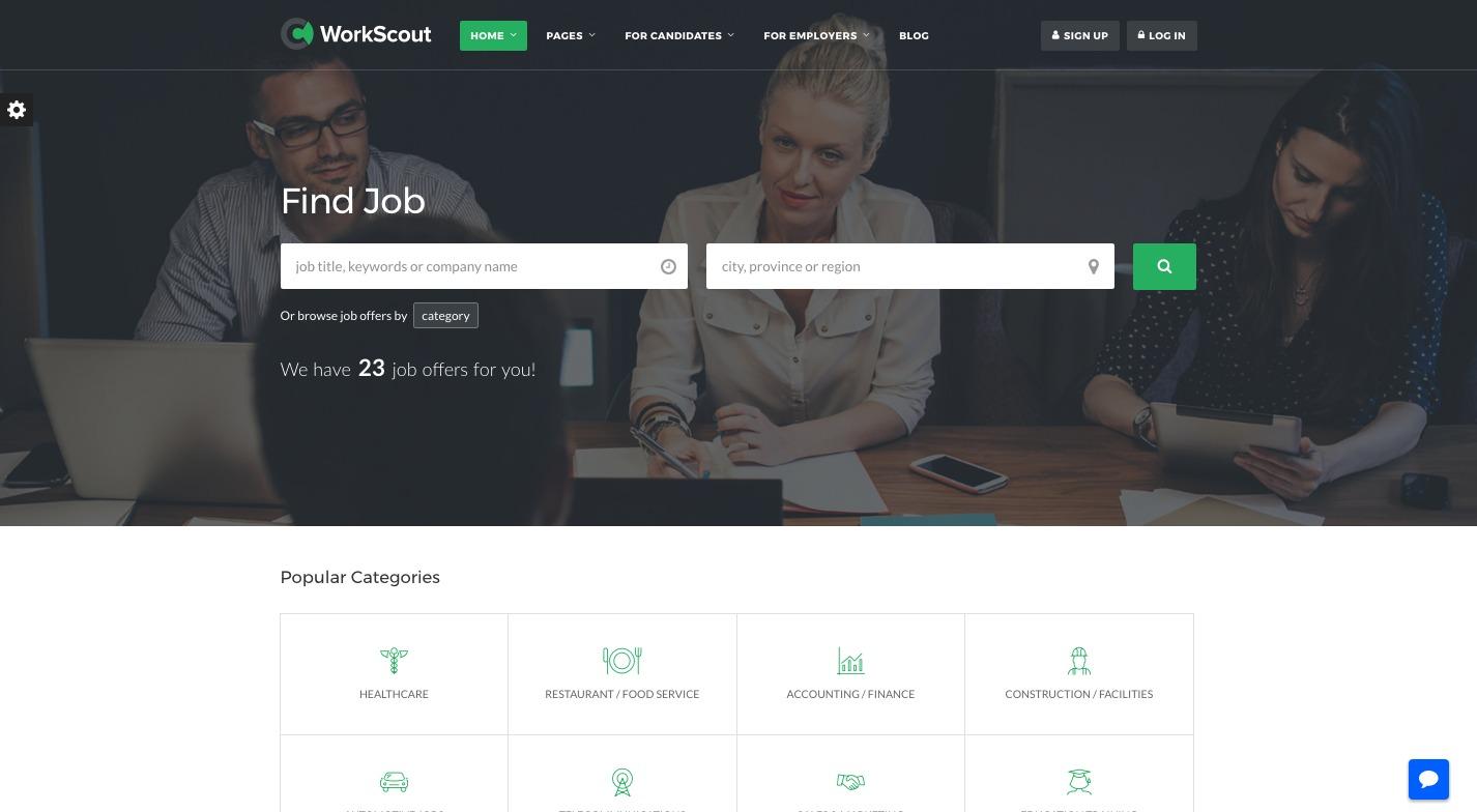 WorkScout WordPress Theme