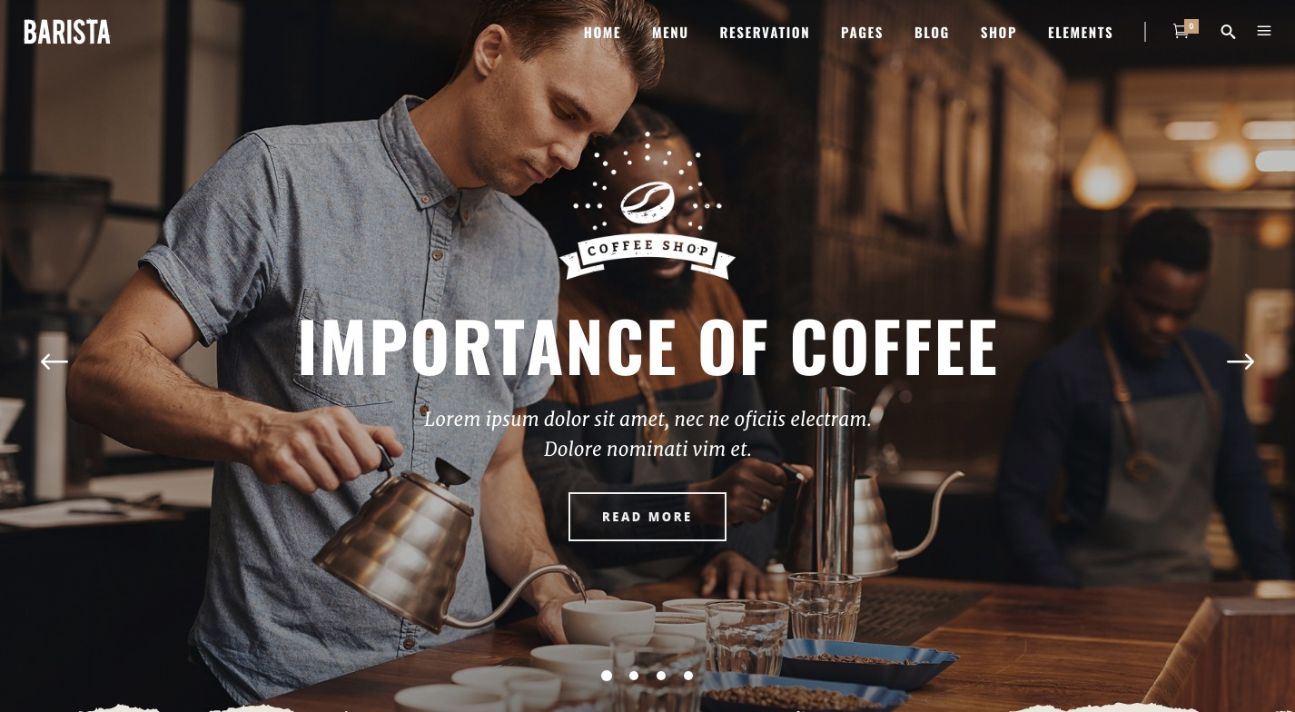 Barista WordPress Theme