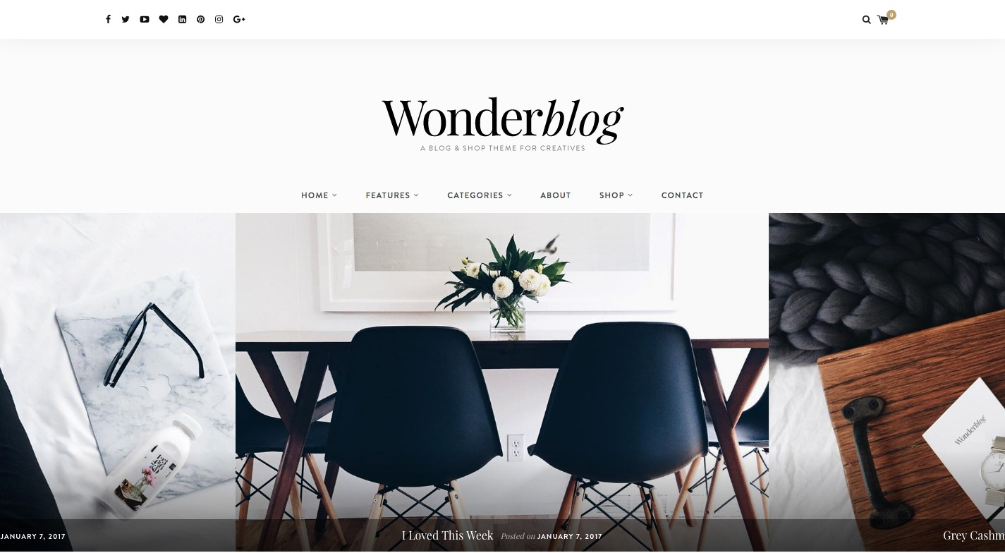 Wonderblog WordPress Theme