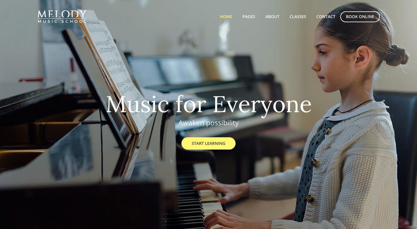 Melody WordPress Theme