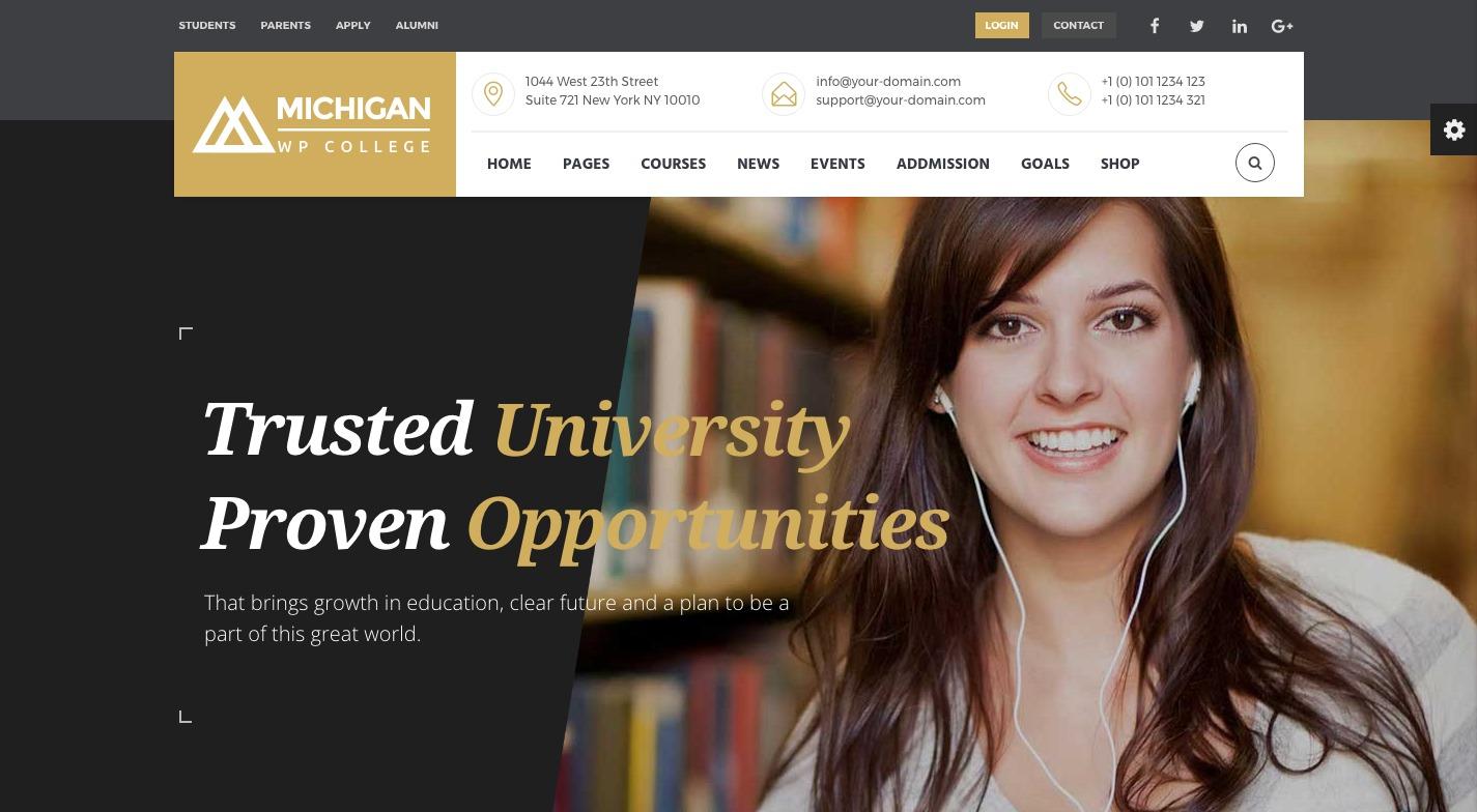 Michigan Learning Suite WordPress Theme
