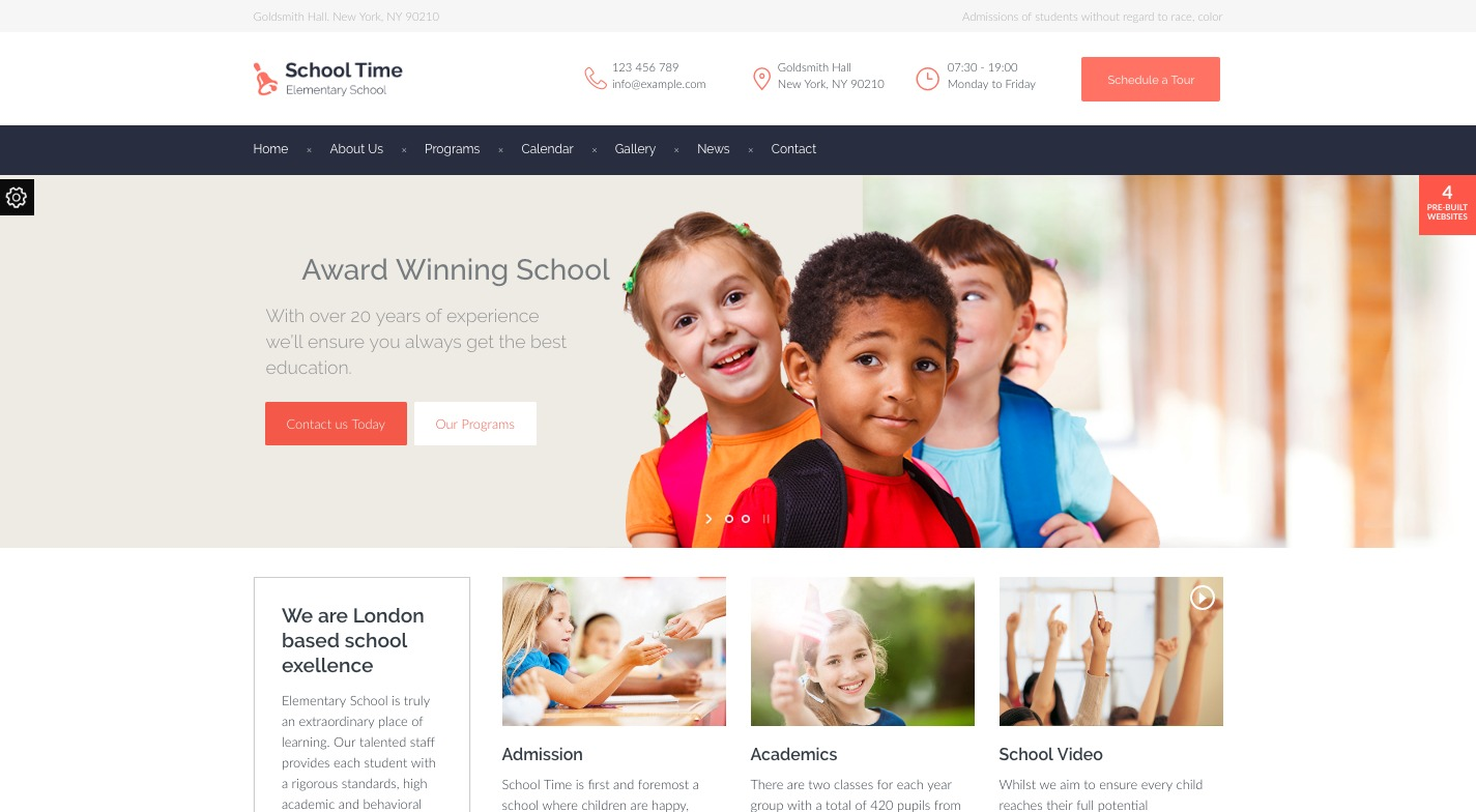 School Time WordPress Theme