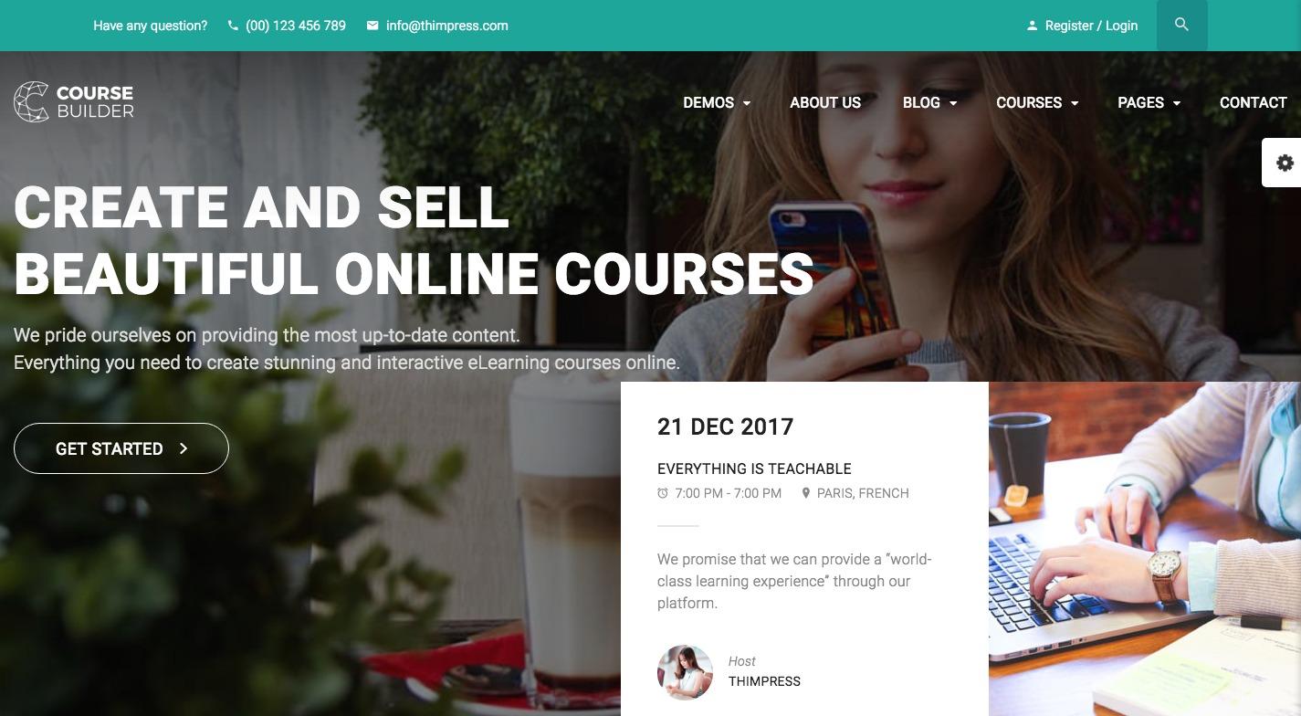 Course Builder WordPress Theme