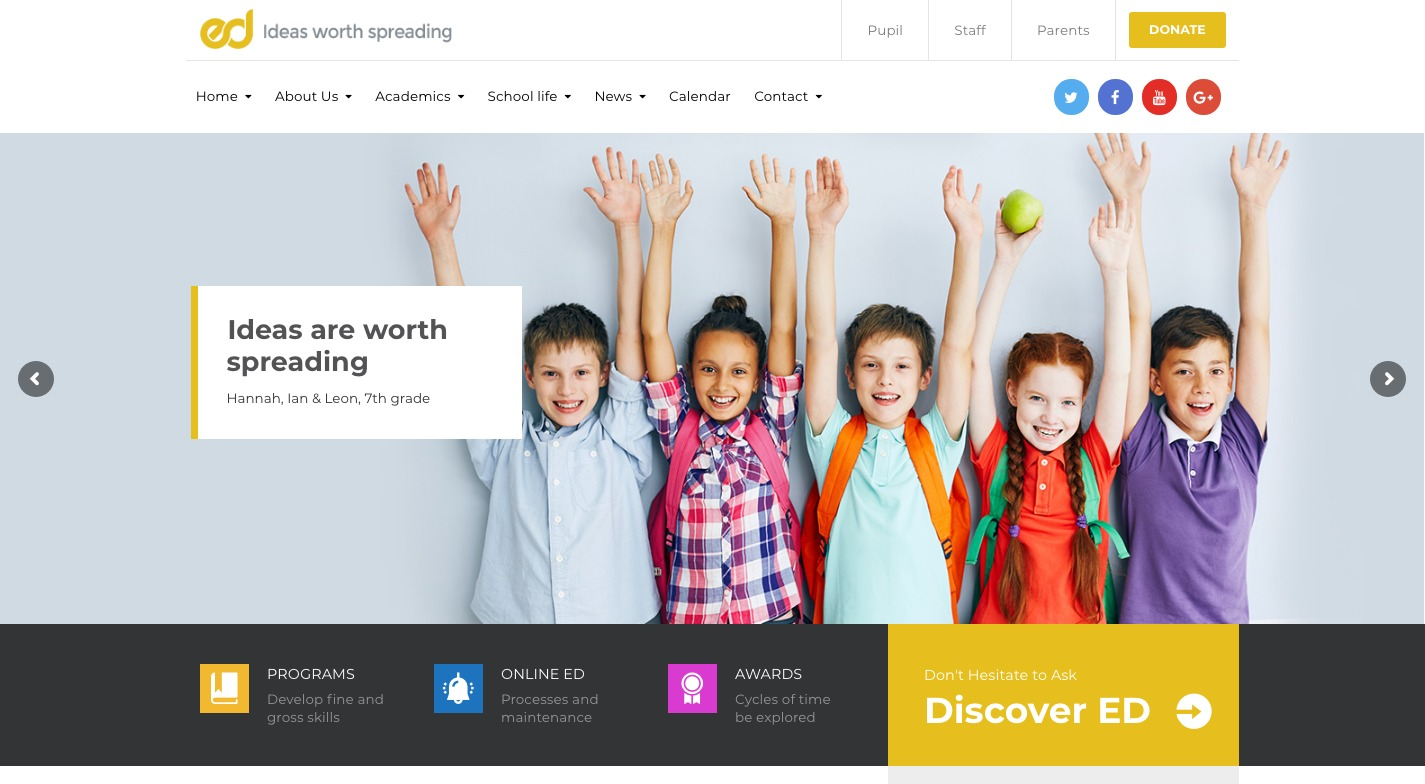 Ed School WordPress Theme