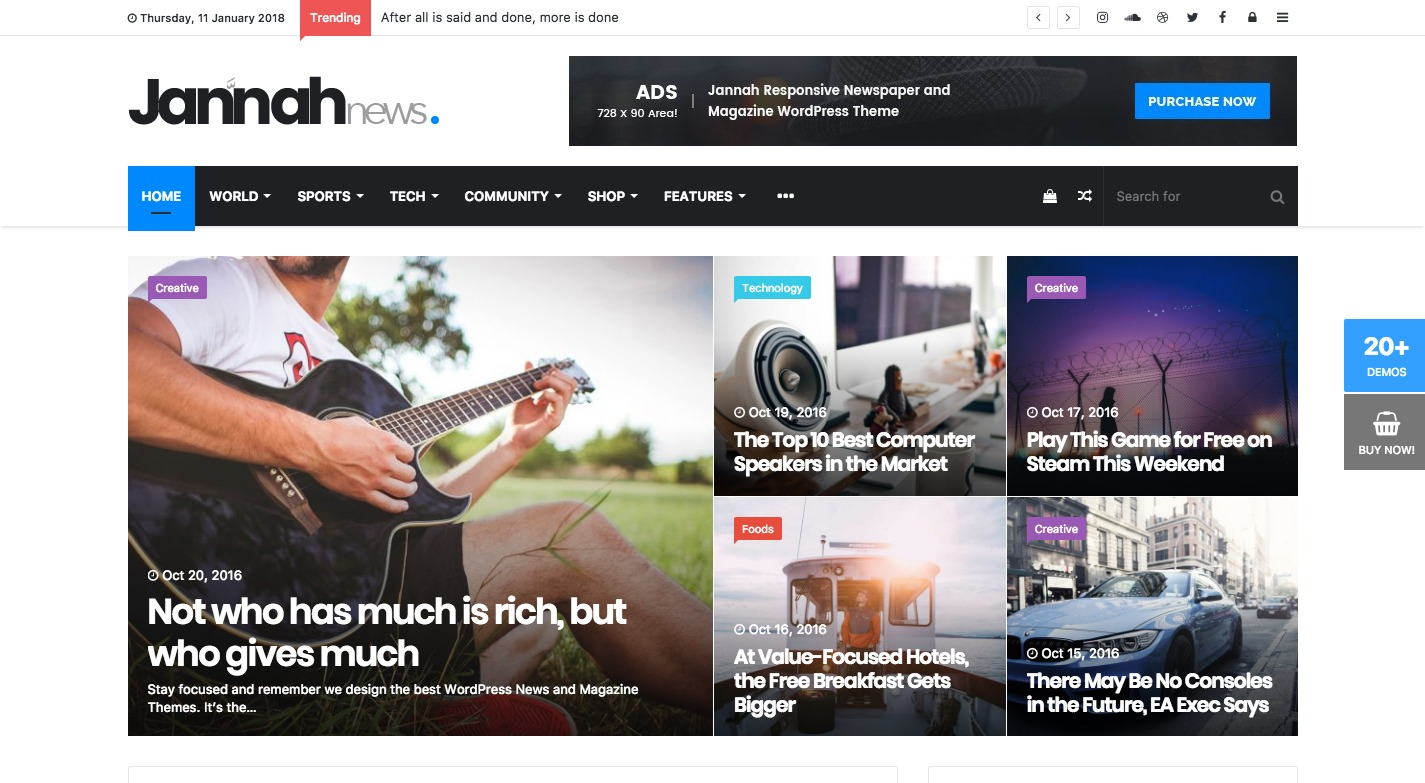 Jannah News WordPress Theme